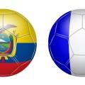 Ballons aux couleurs de l'Equateur et de la France