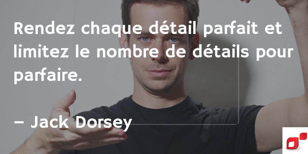 Citation inspirante de Jack Dorsey sur l'entrepreneuriat
