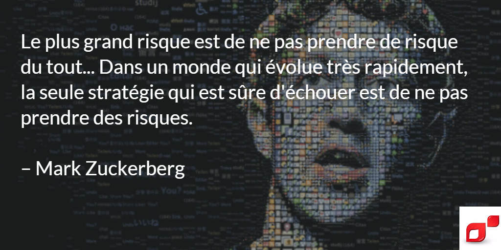 Citation inspirante de Mark Zuckerberg sur l'entrepreneuriat