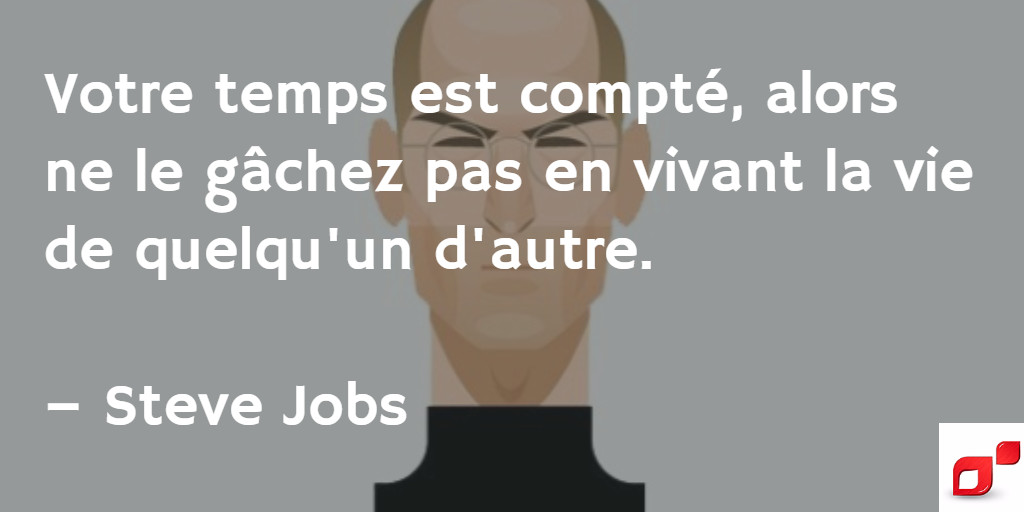 Citation inspirante de Steve Jobs sur l'entrepreneuriat
