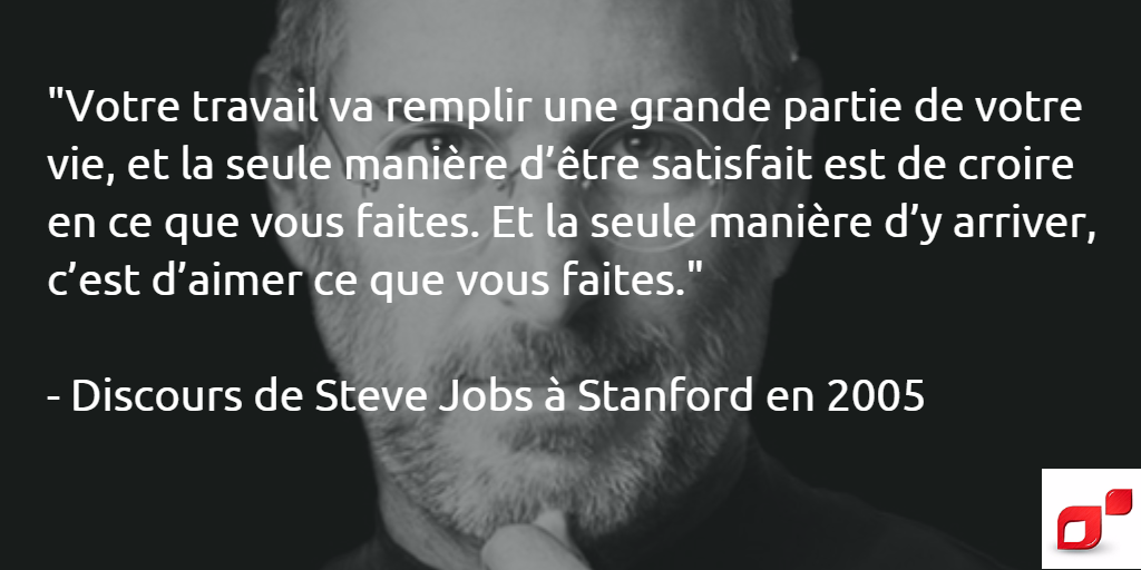 Citation de Steve Jobs -Discours de Stanford en 2005